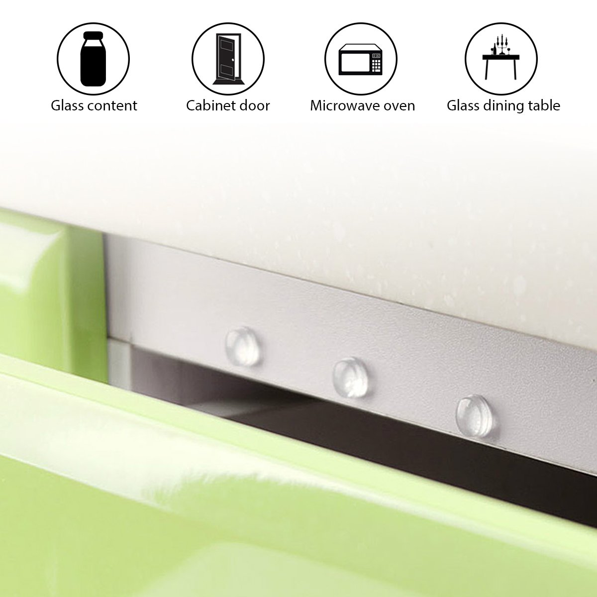 934f5aa0999 Noise Dampening Cabinet Door Bumpers Pads 321 Pieces Self Adhesive Clear  Rubber Feet Transparent Stick Bumpers 7 Shapes for Drawers