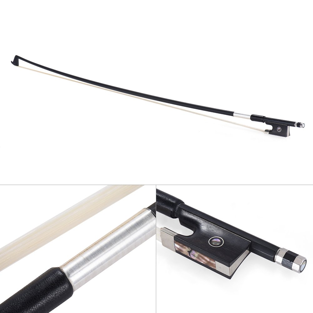 Andoer Well Balanced Carbon Fiber 3/4 Violin Fiddle Bow Round Stick Exquisite Horsehair Ebony Frog violin bow