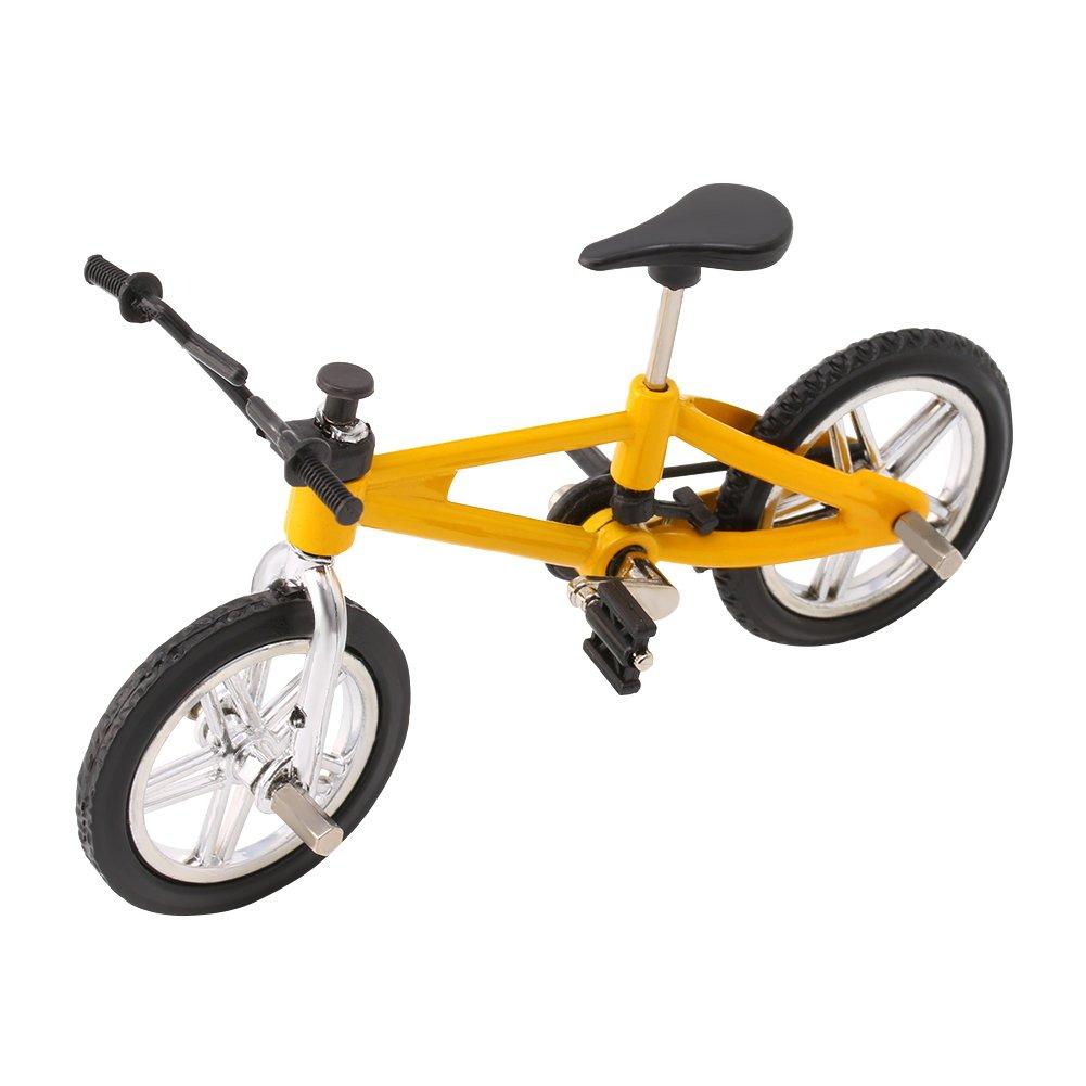 qingqingR Finger Legierung Mountainbike Mini BMX Fixie Fahrrad Modell Toy Boy Kreative Spiel Geschenk 1 Gelb 1 stück