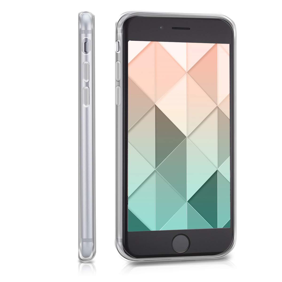 6S Carcasa de m/óvil de Silicona con Tarjetero y Acabado de Goma kwmobile Funda para Apple iPhone 6 Amarillo