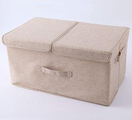 OOFAY Caja de Almacenamiento Plegable de algodón y Lino, Caja de ...