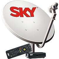 Kit de Antena Parabólica Sky 60 cm + Receptor Digital Sky Pré Pago Flex SD