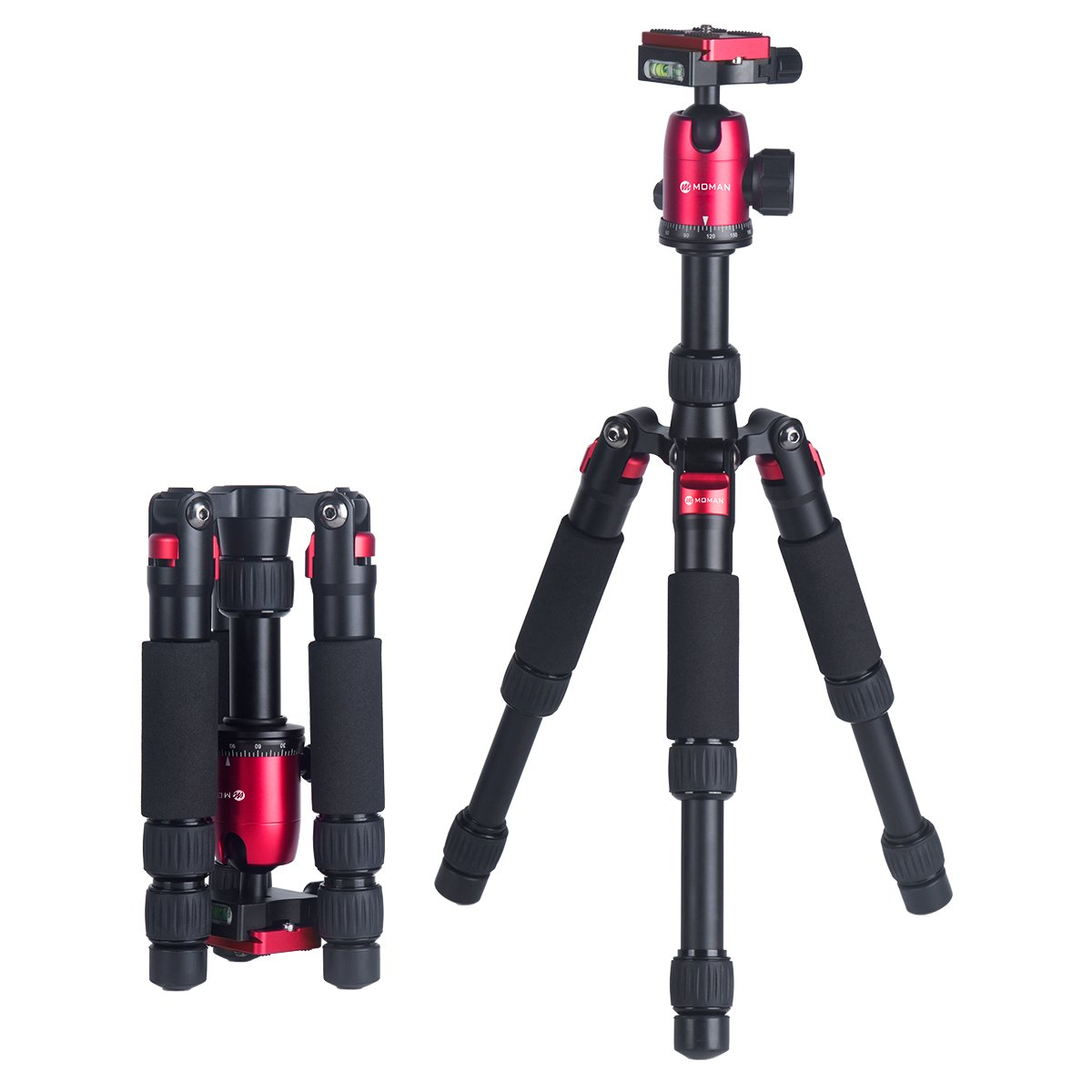 """Portable Mini Compact Tabletop Tripod 20"""" for Macro Photography with 360 Degree Ball Head and Carrying Bag for DSLR Cameras up to 22 lbs, Moman DT-02 … Moman DT--02"""