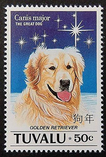 Golden Retriever Dog -Framed Postage Stamp Art 14798