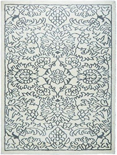 Home Dynamix Ramapo Tati Area Rug Ultra Plush Shag Rug Soft and Cozy Microfiber Ivory-Gray, 5 2 x7 2