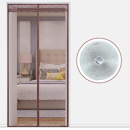 EQEQ Full Frame Velcro Summer Magnetic Screen Door To Door Mosquito Net  Mesh Clip