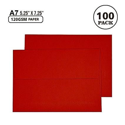 amazon com a7 red invitation 5x7 envelopes self seal square