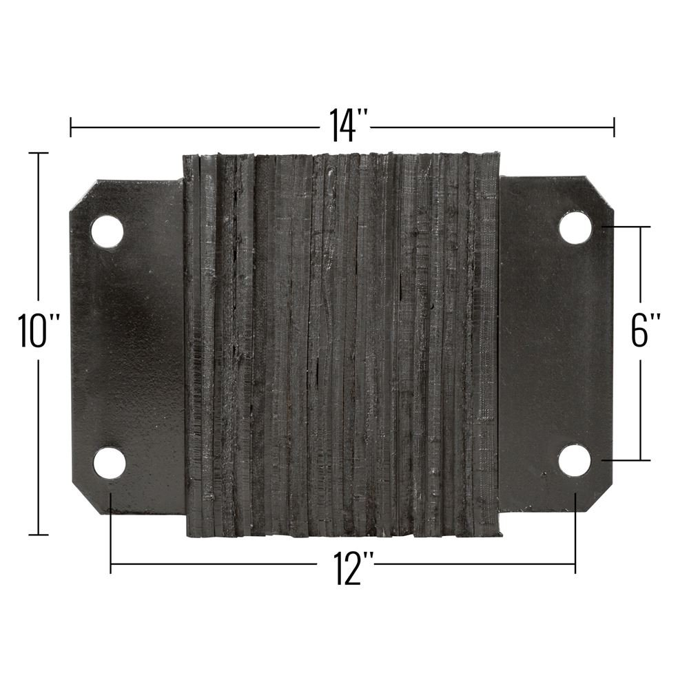 Guardian Dock Bumper 14'' W x 10'' H x 4 1/2 D Horizontal Laminated Rubber by Guardian Industrial Products (Image #4)