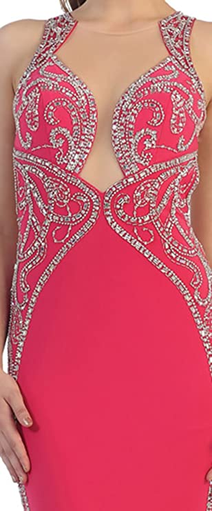 Royal Queen MQ7405 Sexy Prom Evening Dress (4, Fuchsia): Amazon.co.uk: Clothing