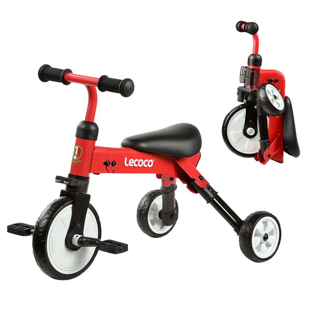 XQ 赤い子供の三輪車2-3-5-6歳の赤ん坊の幼児の自転車折りたたみ自転車自転車 子ども用自転車 B07CG9886J