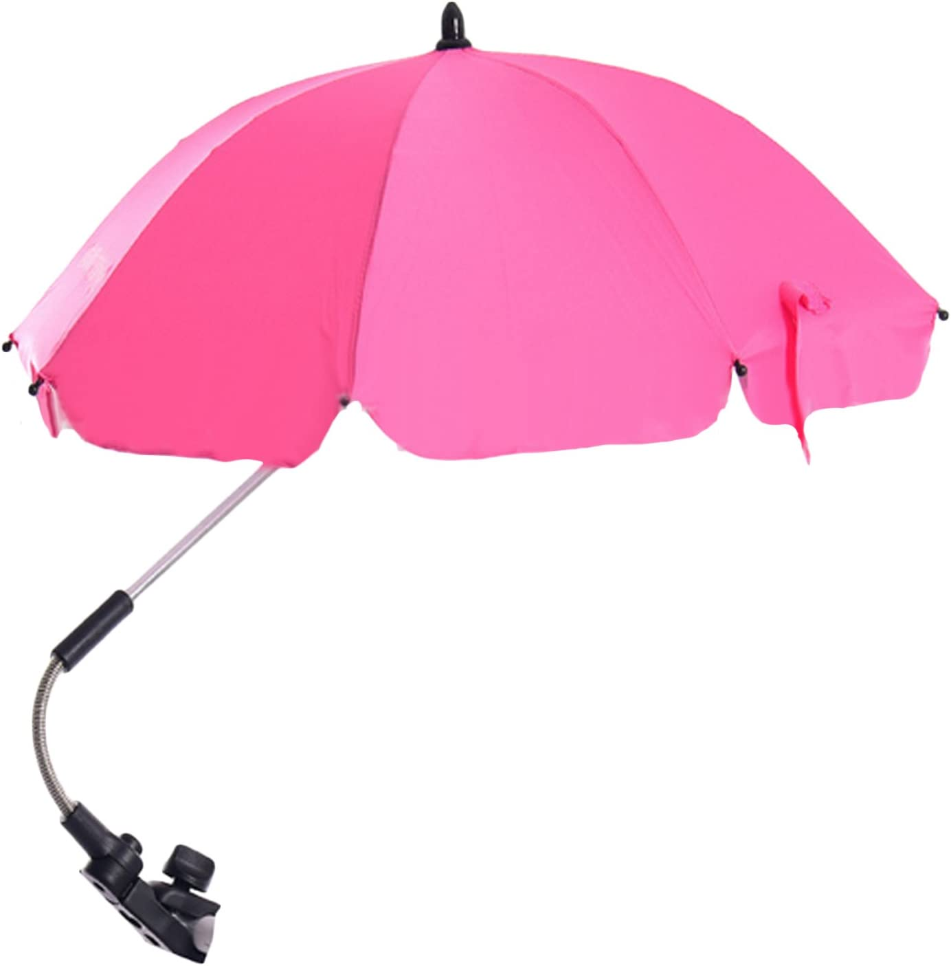 Stroller Umbrella,Migavenn Adjustable Baby Stroller Cover Parasol Shade UV Rain Protection Umbrella Parasol with Swivel Connector for Wheelchair Pushchair Accessories Purple