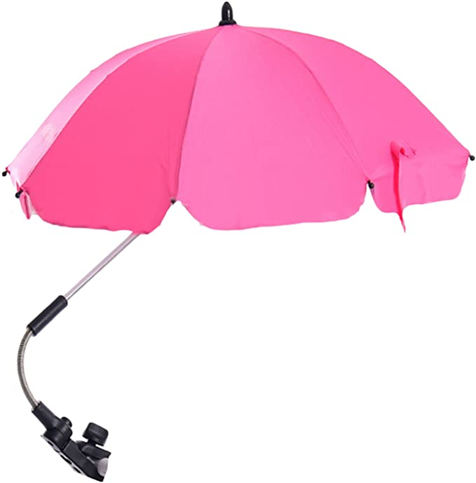 "Pram Parasol Stroller Pushchair Umbrella Black White Pink Navy 16/"" Adjustable"