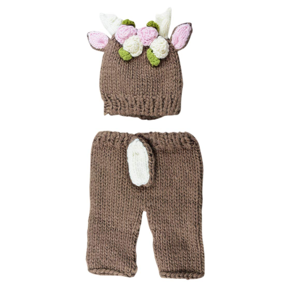 Hartley Deer with Flowers Newborn Set Tan by The Blueberry Hill