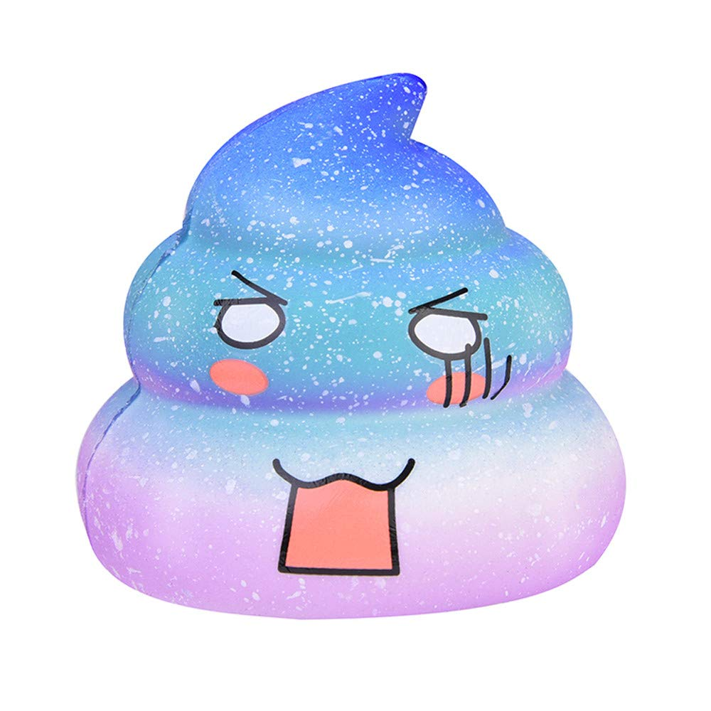 Homeparty Squishies Kawaii Emoji Galaxy Poo Slow Rising Fruit Scented Stress Relief Toys
