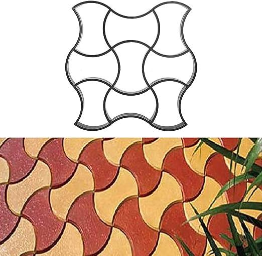 WISFORBEST Molde para Cemento Molde para Hormigón Suelo Caminos Pavimientos Jardín Patio Balcón Terraza Material de Plástico Resistente 49 x 49cm: Amazon.es: Jardín