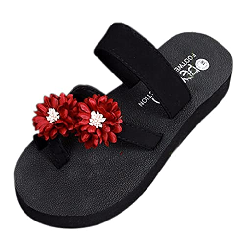 2b157cafdabb Amazon.com  ZOMUSA Women Summer Bohemian Platform Bath Sandals Shoes Wedge  Flip Flops Beach Slippers (US 7