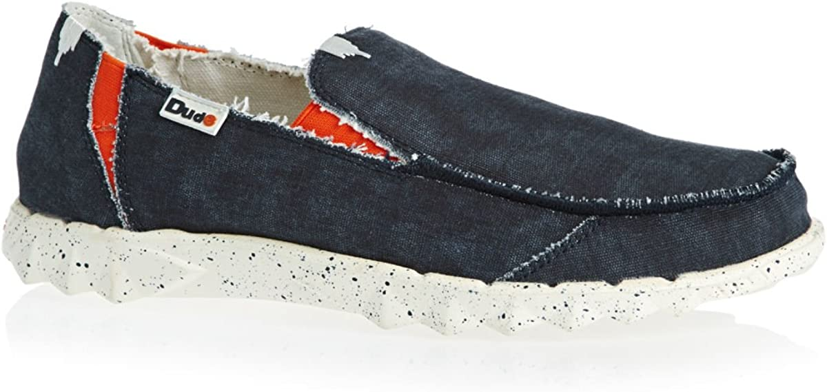 Dude Shoes Mens Farty Funk Navy Slip on//Mule