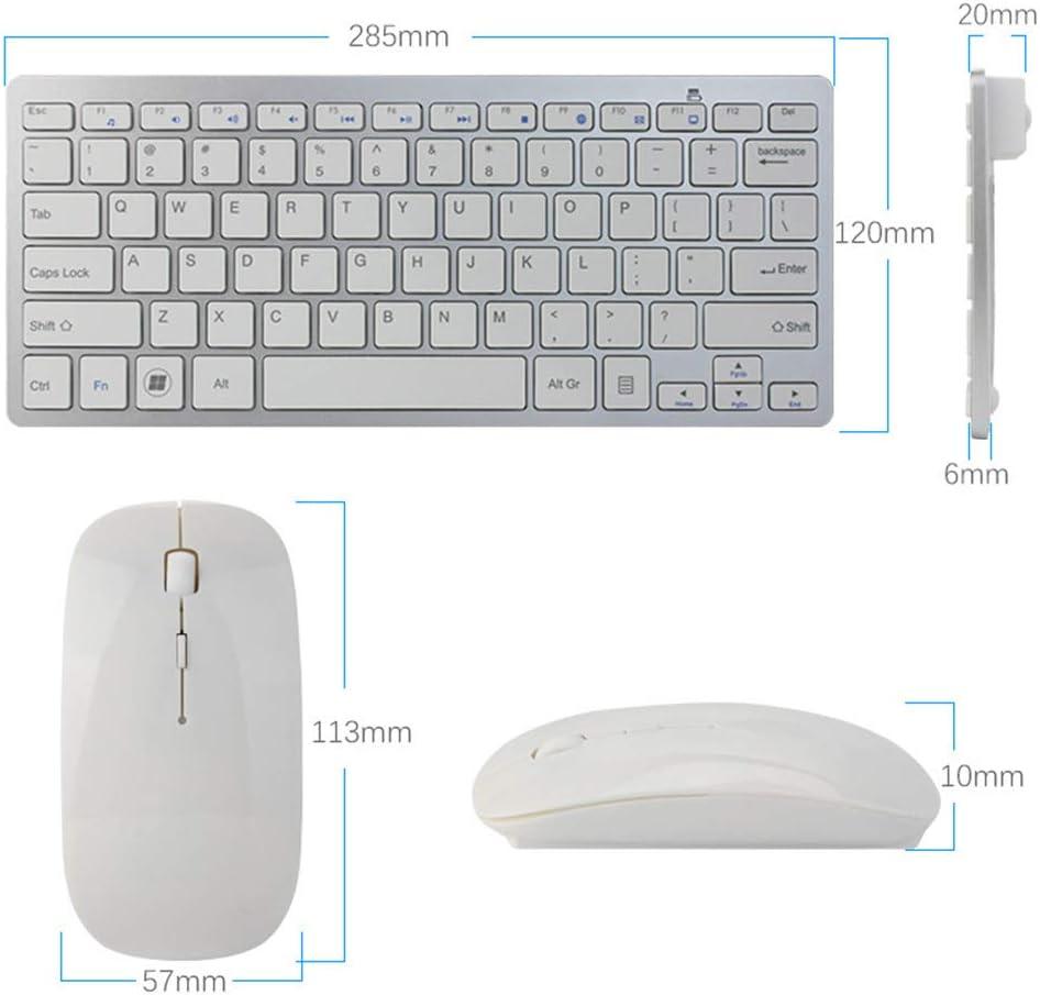 LZBB Bluetooth Mouse and Keyboard Set,Wireless 2.4G Mini Keyboard Ultra-Thin Mouse Combination Ergonomic Mute Keyboard Set for Gaming//Office//Notebook