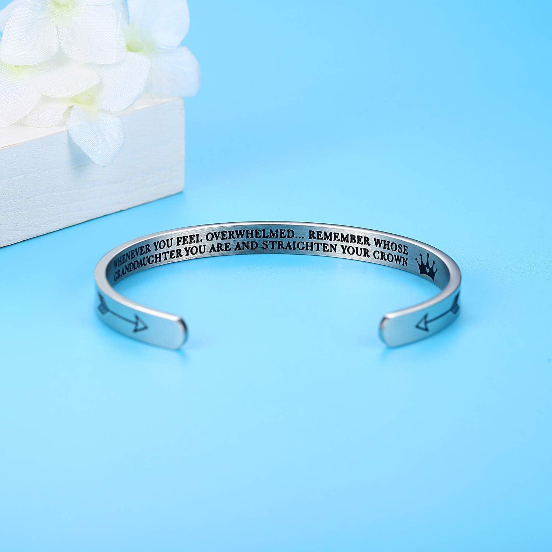 Inspirational Cuff Bracelets Whenever You Feel Overwhelmed Remember Gifts for Daughter Mom Granddaughter Women Girls