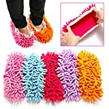2Pcs Multifunction Chenille Cleaning Mop Shoes Mophead Overshoe Floor Dust Cleaning Slippers by MarbellStore