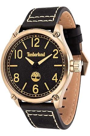 Timberland Reloj Analógico para Hombre de Cuarzo con Correa en Cuero 4895148669662: Amazon.es: Relojes