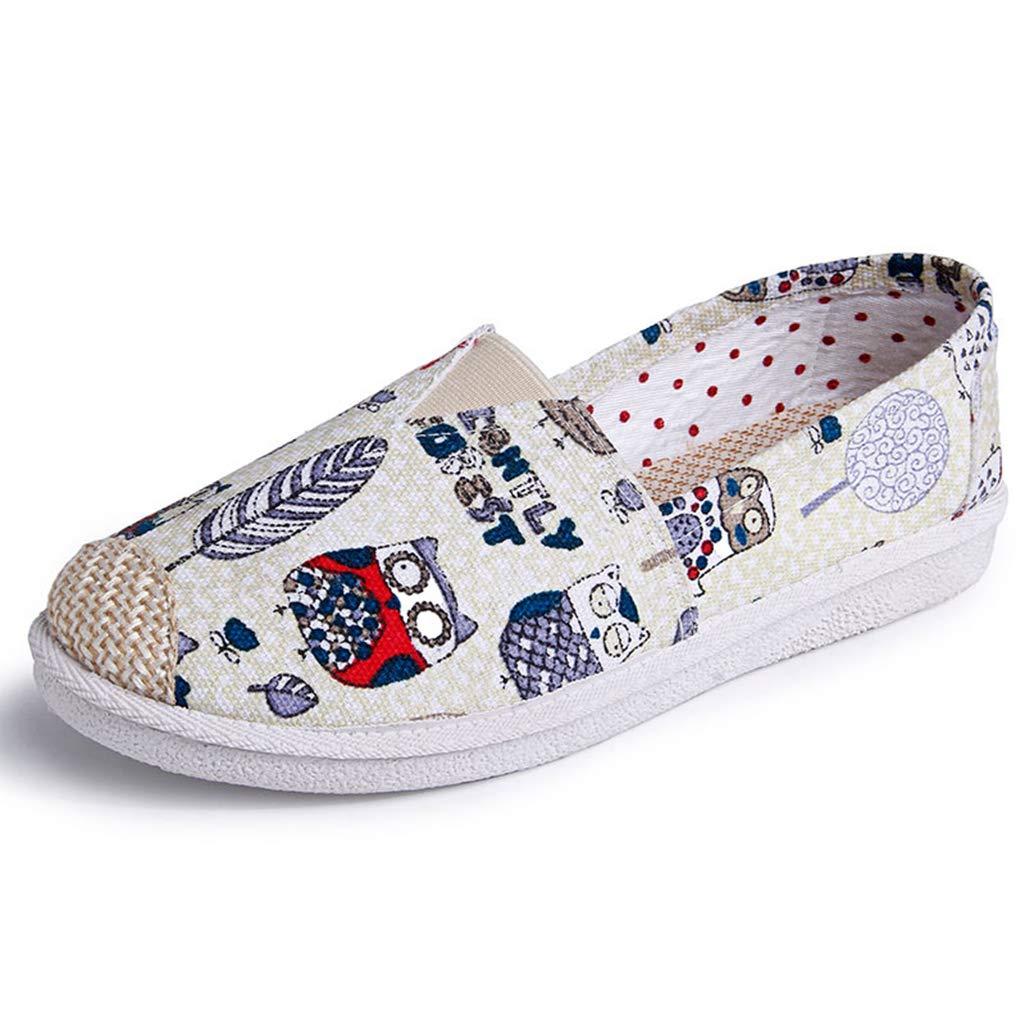 7faa395b11c37 Amazon.com: DETAIWIN Women's Pretty Canvas Loafers Slip On Lovely ...