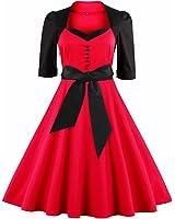 Women Elegant Vestidos Dress Vintage Rockabilly Swing Spring Summer Dresses