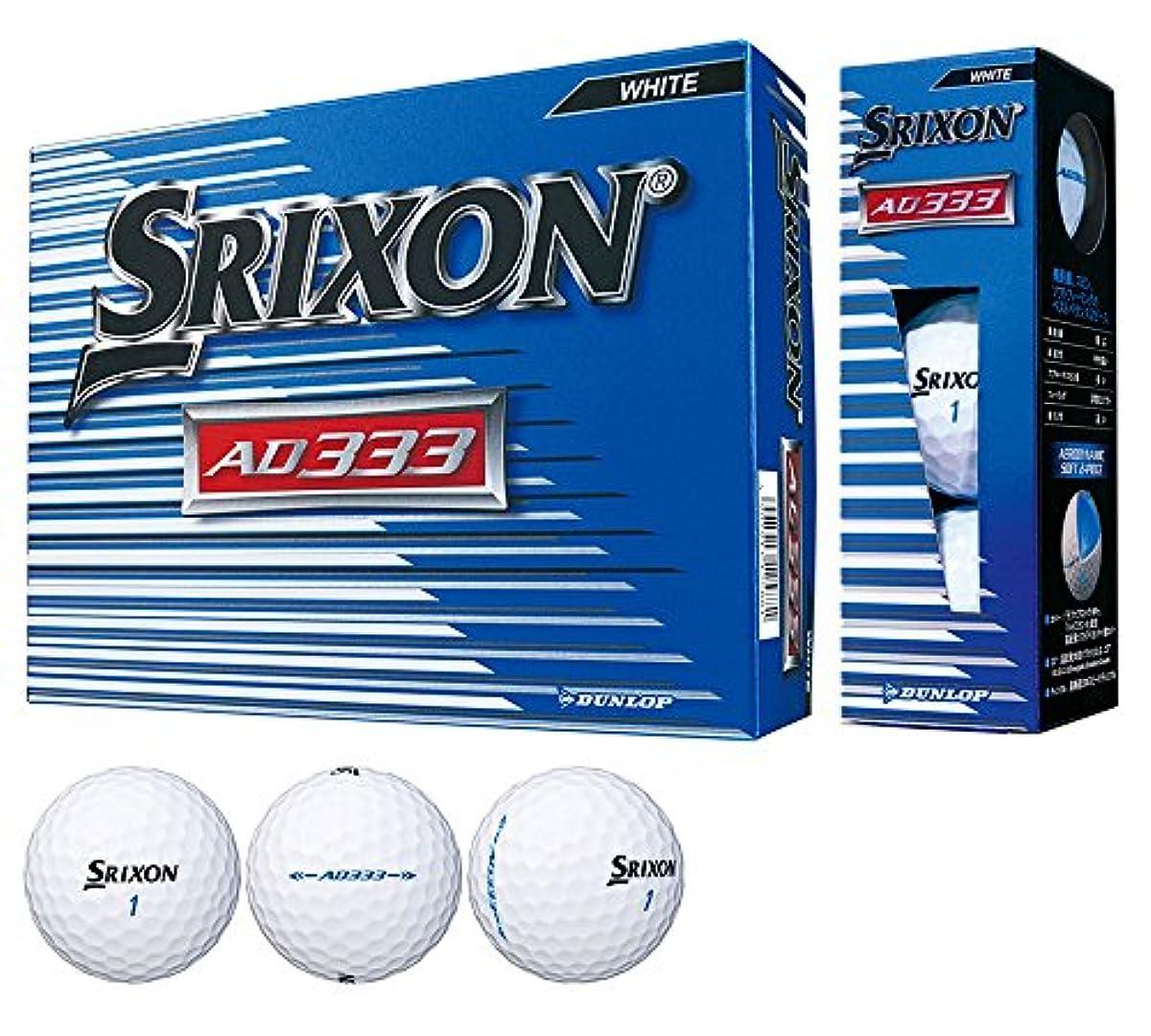 [해외] 던롭 골프공 스릭슨 AD333 12개입 3종