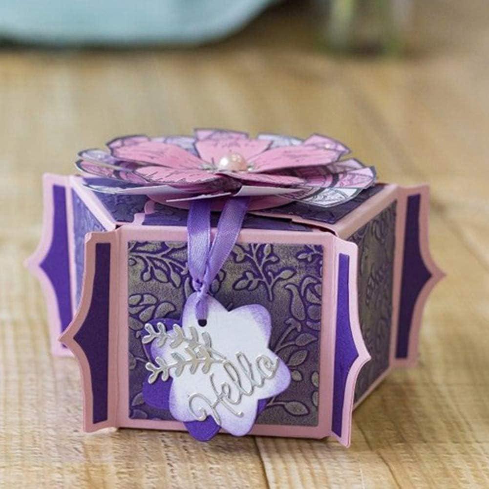 Lai-LYQ Matrice de D/écoupe,Boite de Cadeau 3D M/étal Scrapbooking Dembossage Pochoirs Bricolage de Carte Papier D/écor Silver