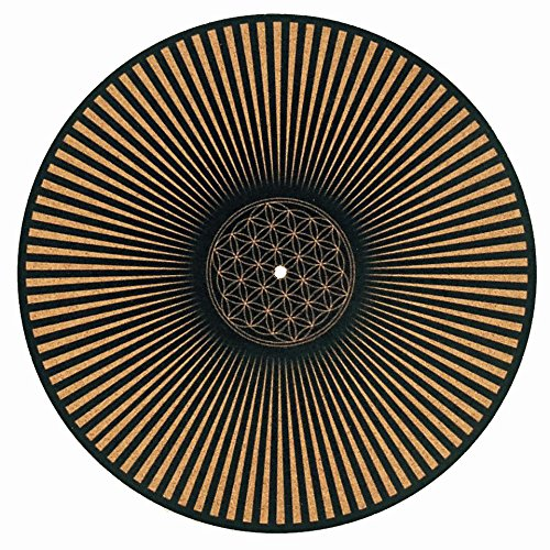 Taz Studio: Turntable Slipmat - Specially Designed Cork. The Flower of Life, slipmats
