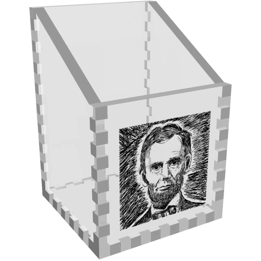 Abraham Lincoln Claro Organizador de Escritorio / Lápiz Titular ...