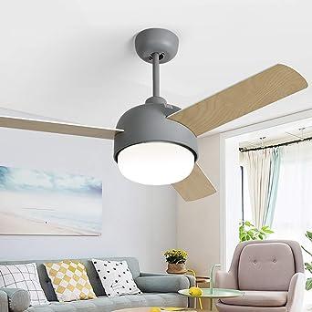 Ventilador de techo de 112 cm, moderno, minimalista, para salón ...