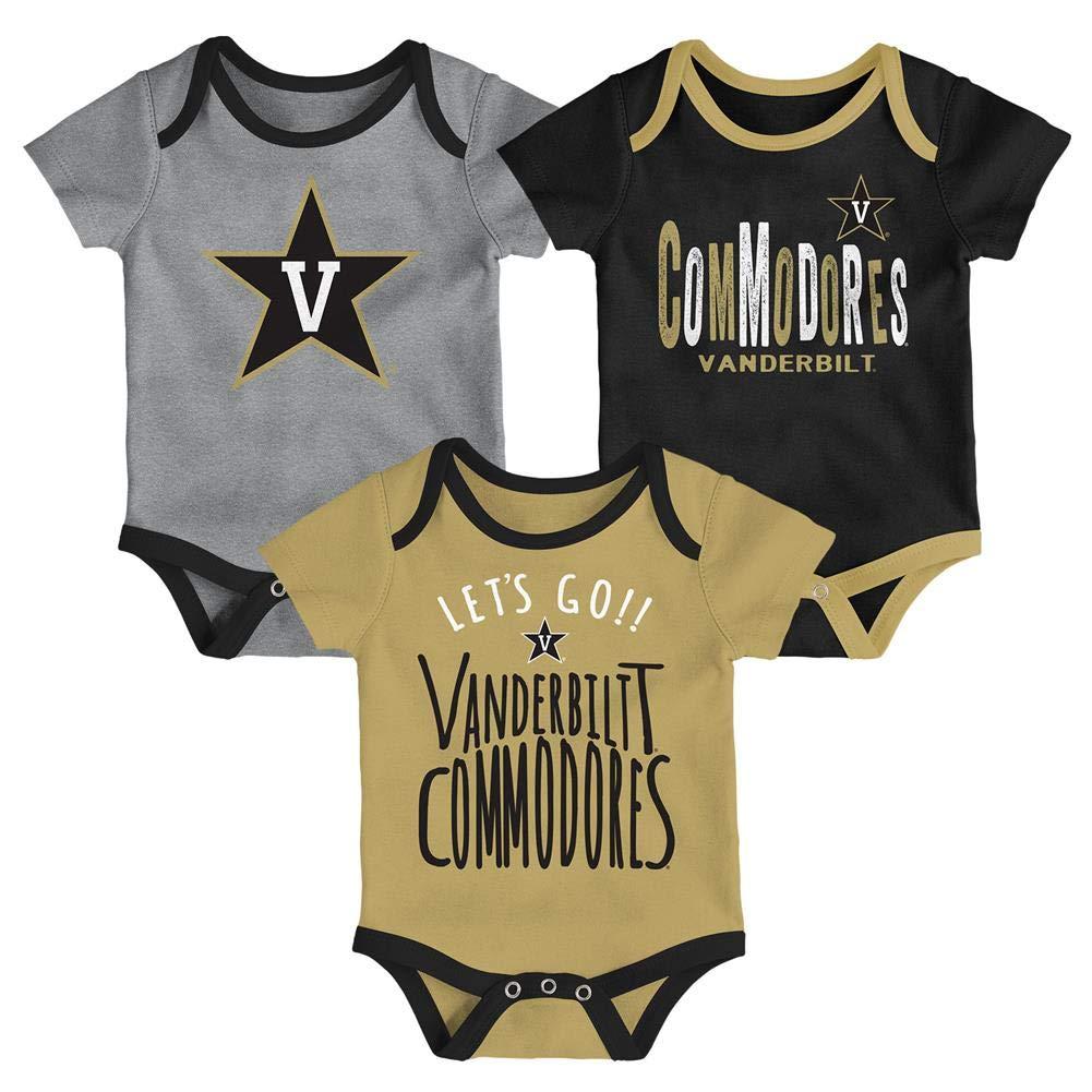Outerstuff Vanderbilt University Vandy Infant Creeper Set Lil Tailgater 3 Pack