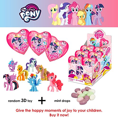 Black Starlight Sparkle (SET OF 3 SURPRISE Plastick Heart with 3D TOY and DROPS INSIDE DISNEY
