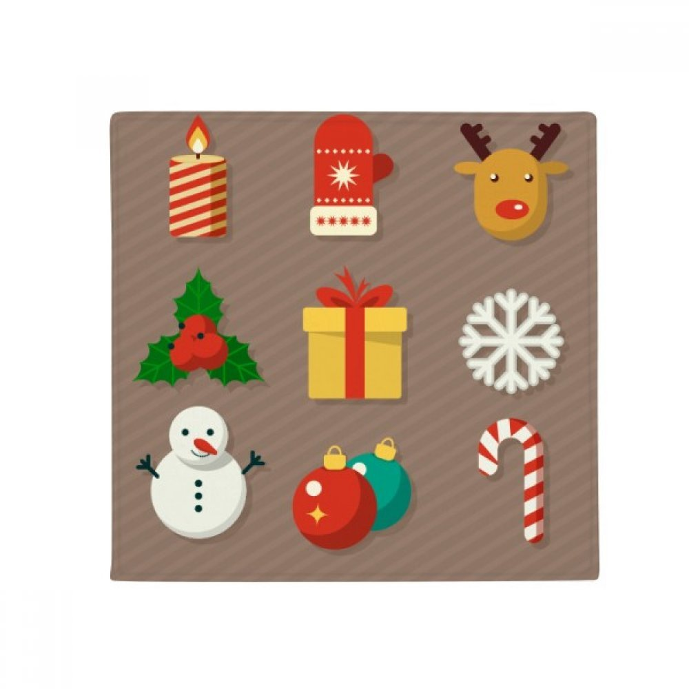 DIYthinker Merry Christmas colorful Gifts Illustration Anti-Slip Floor Pet Mat Square Home Kitchen Door 80Cm Gift