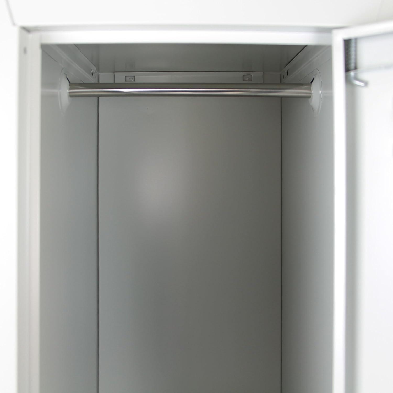 Farbe:Grau-Grau Spind Schlie/ßfachschrank Metallschrank Mehrzweckschrank Umkleideschrank Garderobenschrank in vielen Ausf/ührungen Spind-Variante:9 F/ächer