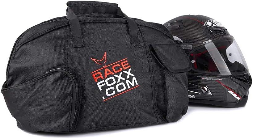 Racefoxx Helmtasche Motorradhelm Helm Tasche Helmschutz Mit Flauschiger Fütterung Und Visierfach Sport Freizeit