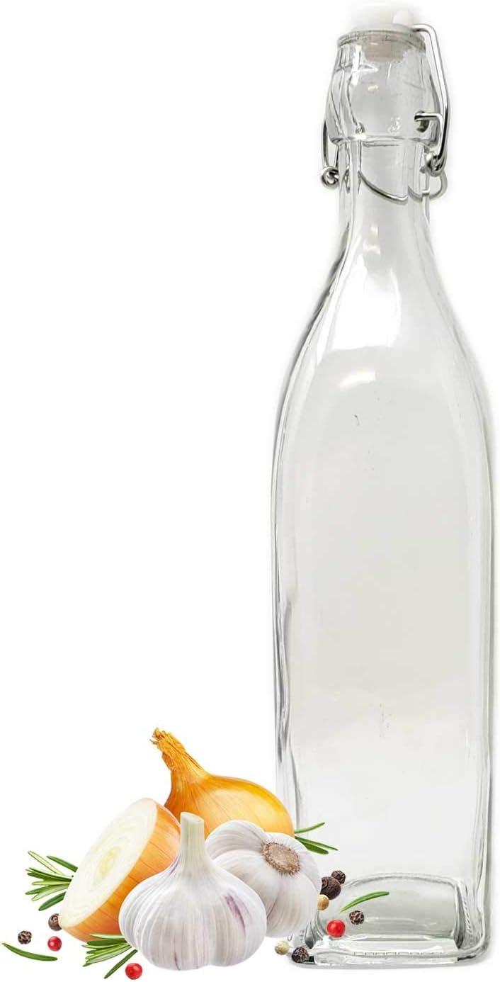 Large 33oz Glass Swing Top Bottle Carafe - Kombucha, Kefir, Beer, Water, Milk,Beverage Liquor
