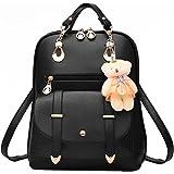 xhorizon TM FL1 Fashion Casual Cute PU Leather School Bag Backpack Shoulder Bag