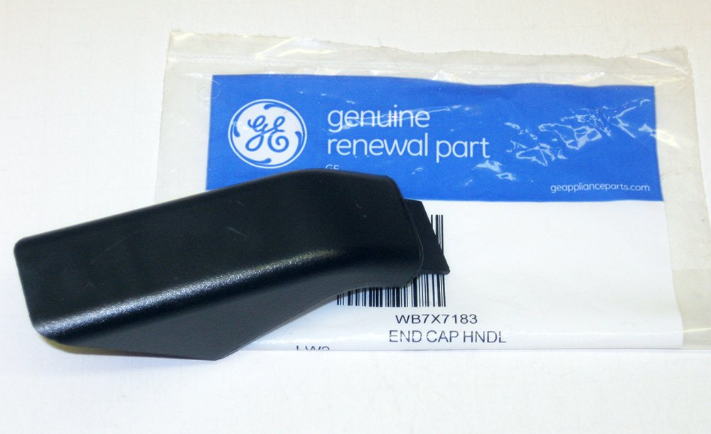 PART # WB7X7183 OR AP2019449 GENUINE FACTORY OEM ORIGINAL STOVE OVEN RANGE DOOR HANDLE END CAP FOR GE AND HOTPOINT