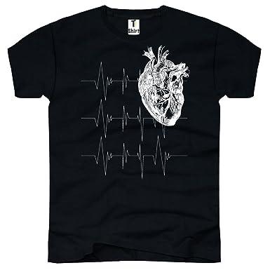 TEE-Shirt, Herren T-Shirt mit Aufdruck. T-Shirt mit Herz-Anatomie ...