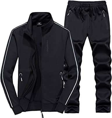 Amazon.com: November's Chopin Men's New Sportwear Active Set Tracksuits  Jogging Sweat Suit Red: Clothing