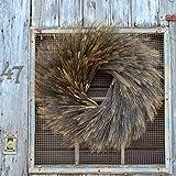 Darby Creek Trading Natural Dried Blackbeard Triticum Wheat Fall Front Door Wreath