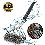 Grill Brush And Scraper Grill Brush Bristle Free - Grill Brsh 18'' For Porcelain Grates Outdoor Stainless Steel Grill Cleaner Tool - BBQ Safe Scraper Barbeque Cleaning Accessories