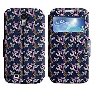 LEOCASE mariposa surtidos Funda Carcasa Cuero Tapa Case Para Samsung Galaxy S4 I9500 No.1003568