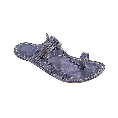 Original Extraordinary Denim Black Cross Lace For Men Slipper Sandal