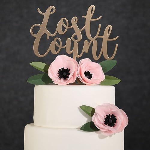 Astounding Amazon Com Birthday Cake Topper Gold Lost Count Cake Topper Funny Birthday Cards Online Barepcheapnameinfo