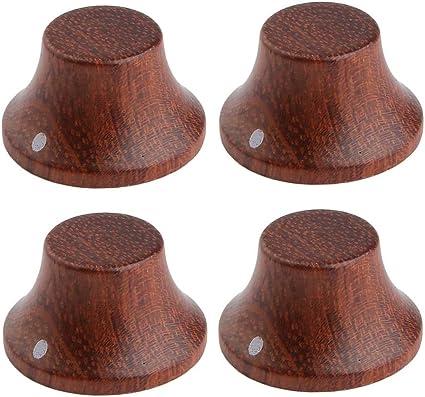 Guitar Parts WOOD DOME Barrel KNOBS Set of 2 BUBINGA