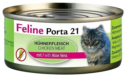 Feline Porta Katzenfutter Feline Porta Huhn Plus Aloe G Er - Porta 21