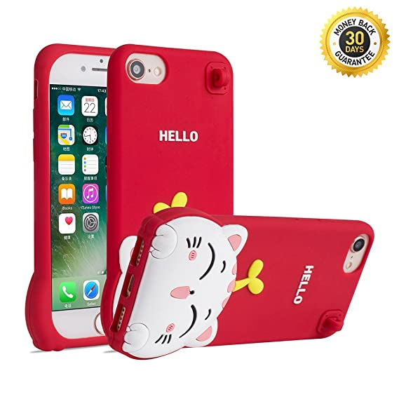 various colors da0dd 22aed YINTRADE Phone Case for iPhone 6 6S 7 8 4.7 Inches, Silicone Cute 3D  Cartoon Cat Animal Pattern Shockproof Anti-Scratch Thick Soft Rubber Drop  ...